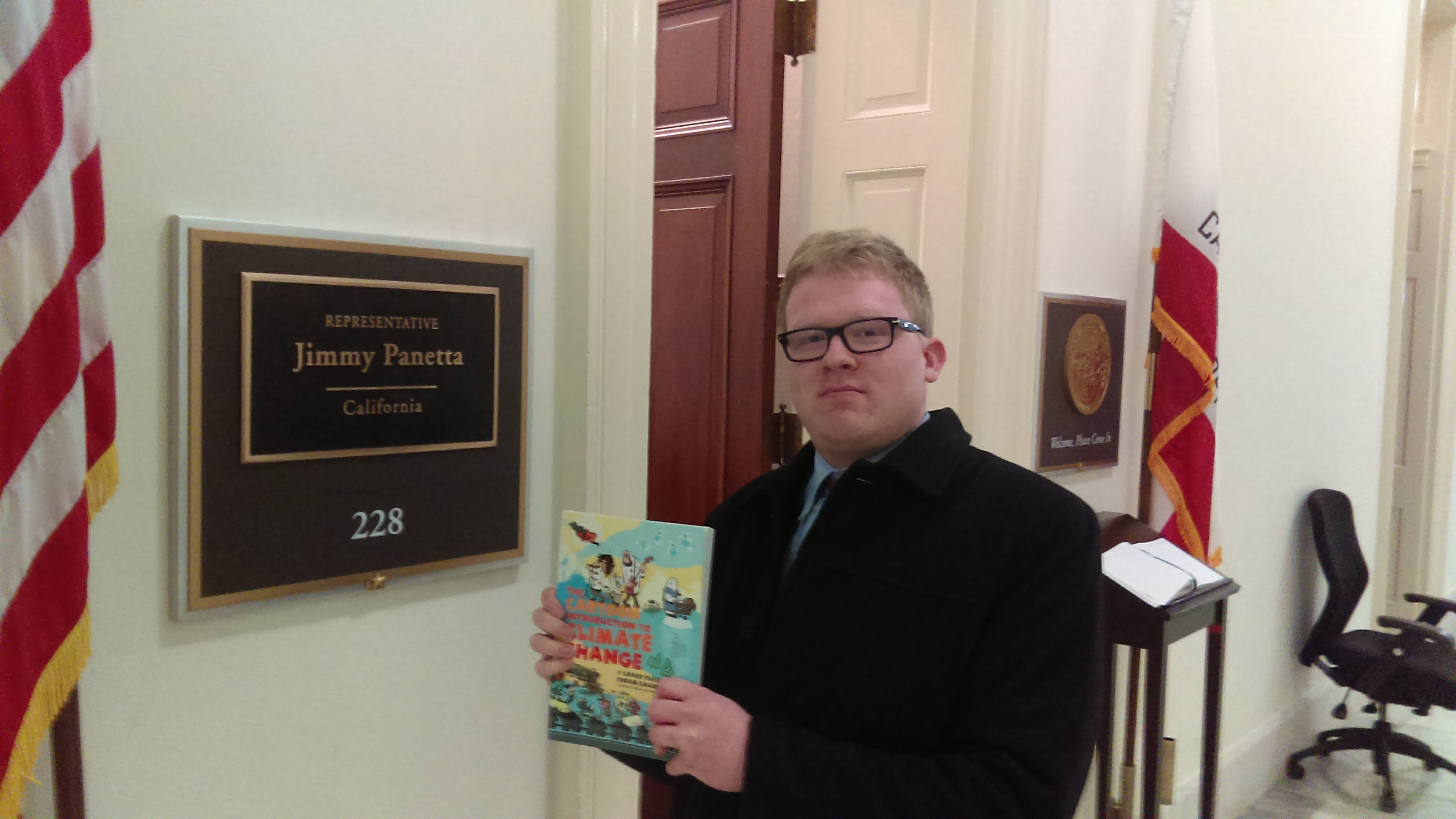 Eric Bertsch at Rep. Panetta's office | Island Press