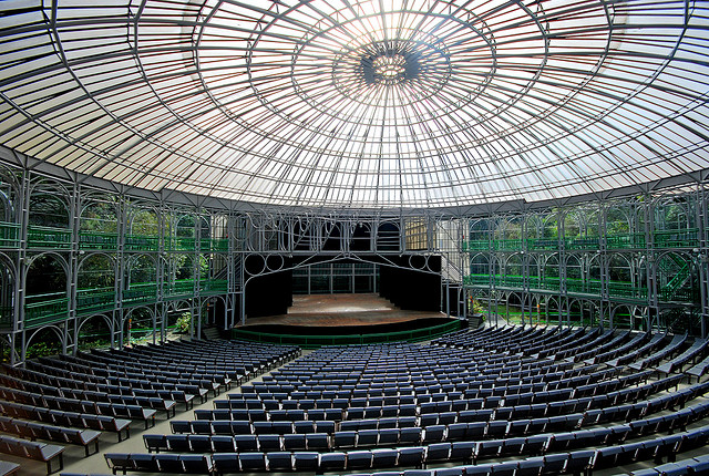 Interior of the Ópera de Arame, Curitiba. Photo by Herval Freire, used under Creative Commons licensing.