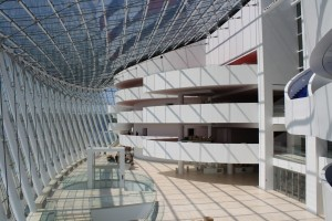 The atrium at the Kauffman Center for the Performing Arts, Kansas City, Moshe Safdie, architect