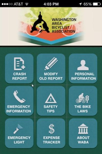 A screenshot of the WABA crash app on iPhone. Image: Greg Billing