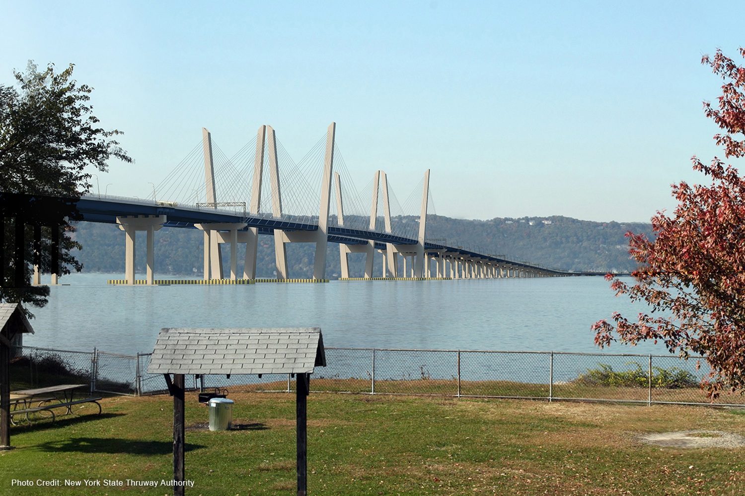 Rendering of New Tappan Zee Hudson River Crossing. Photo credit: New York State Thruway Authority