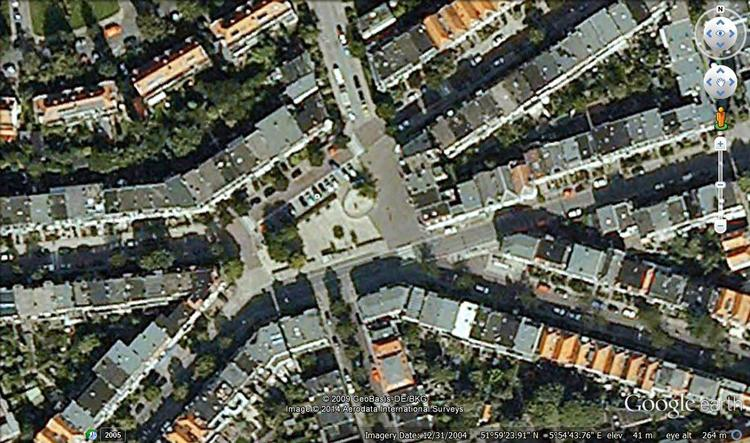 Google Earth image of Graaf Ottoplein, Arnhem