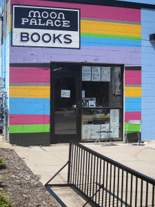 Moon Palace Books in Minneapolis sports a bike rack. Photo via Moon Palace Books.