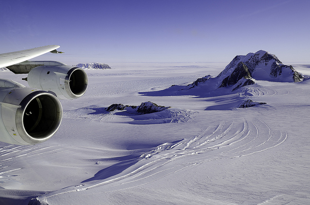 Admiral Richard E. Byrd named this region of Antarctic Marie Byrd Land for his wife during a 1929 flight to the South Pole. In March, a fan wrote to The New York Times suggesting the newly-discovered Pluto be named after him. Photo by NASA/Goddard Space Flight Center, used under Creative Commons licensing.