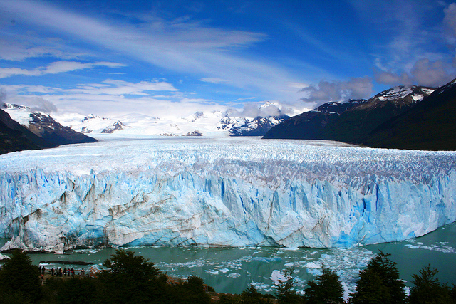 Perito Moreno glacier in Argentina. Photo by pclvv, used under Creative Commons licensing.