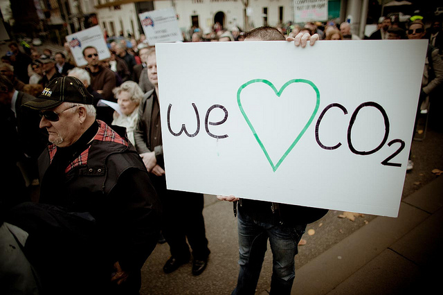 Australians rally against the carbon tax in 2011. Photo by qian, used under Creative Commons licensing.