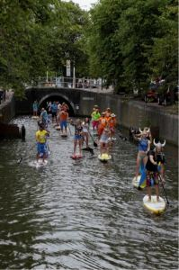 The 11-city SUP Tour in the Netherlands. Source: sup11citytour.com
