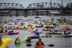 Thousands enjoying Portland's Big Float in July. Source: Oregonlive.com