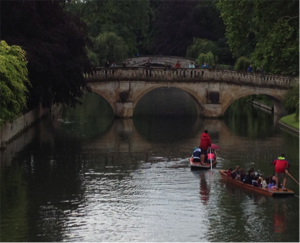 Punting in Cambridge, UK. Source: Tim Beatley