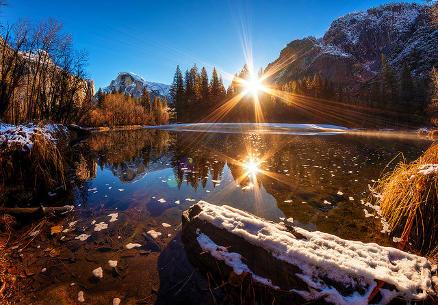 Sunrise in Yosemite National Park. Photo by Tom Bricker, used under Creative Commons licensing.