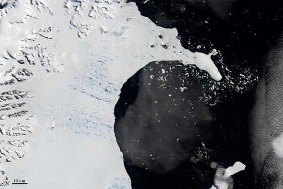 Larsen B Ice Shelf collapsing, Antarctica. Photo courtesy NASA.