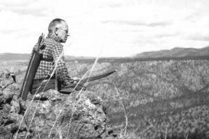 Aldo Leopold in Mexico pondering carnivore conservation. Photo courtesy the Aldo Leopold Foundation.