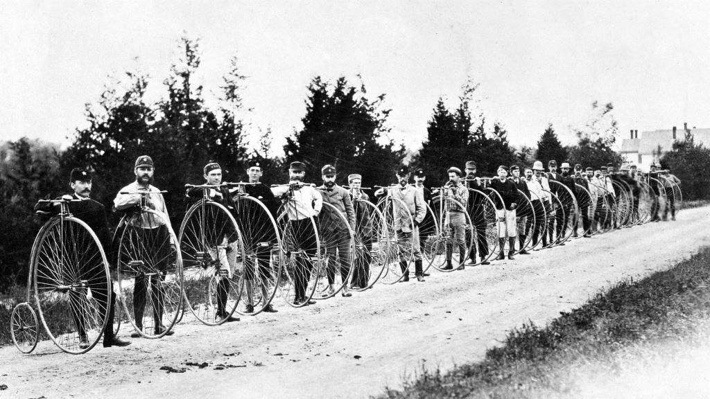 In the late 1800s and early 1900s, cycling was loved by many men with impressive facial hair.