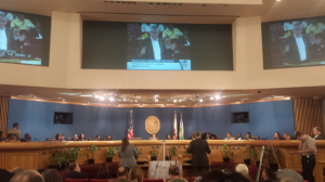 Figure 5: FOLT supporters hold the room for hours speaking in favor of the trail