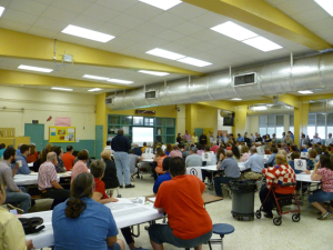 Figure 6: Hundreds in attendance for the recent Ludlam Trail Charette