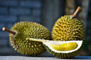 Durian fruits. Photo by Mohd Hafizuddin Husin, used under Creative Commons licensing.