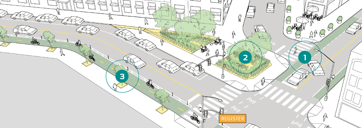 NACTO Urban Street Stormwater Guide with Island Press