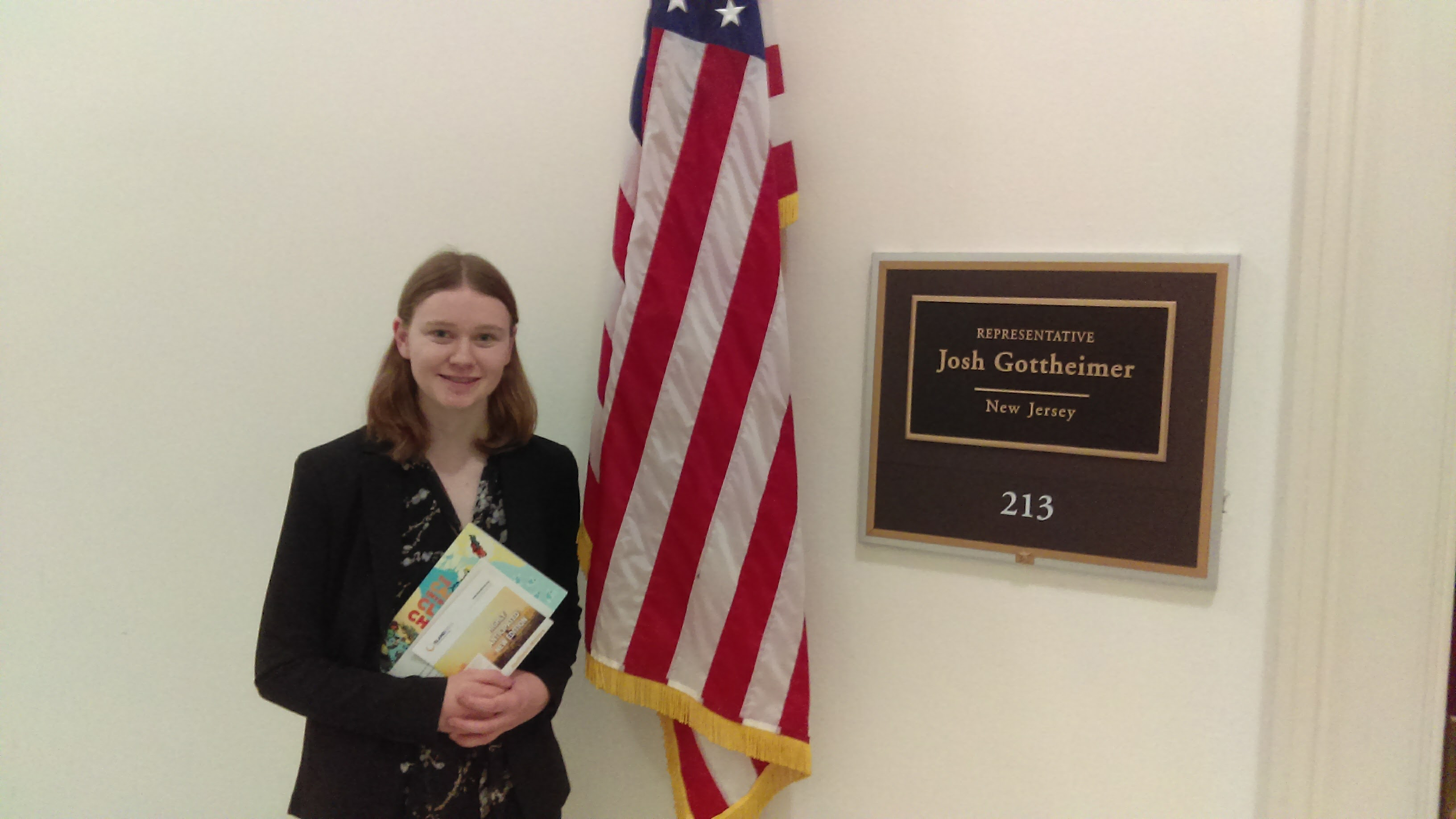 Isabella Austin at Rep. Gottheimer's office | Island Press