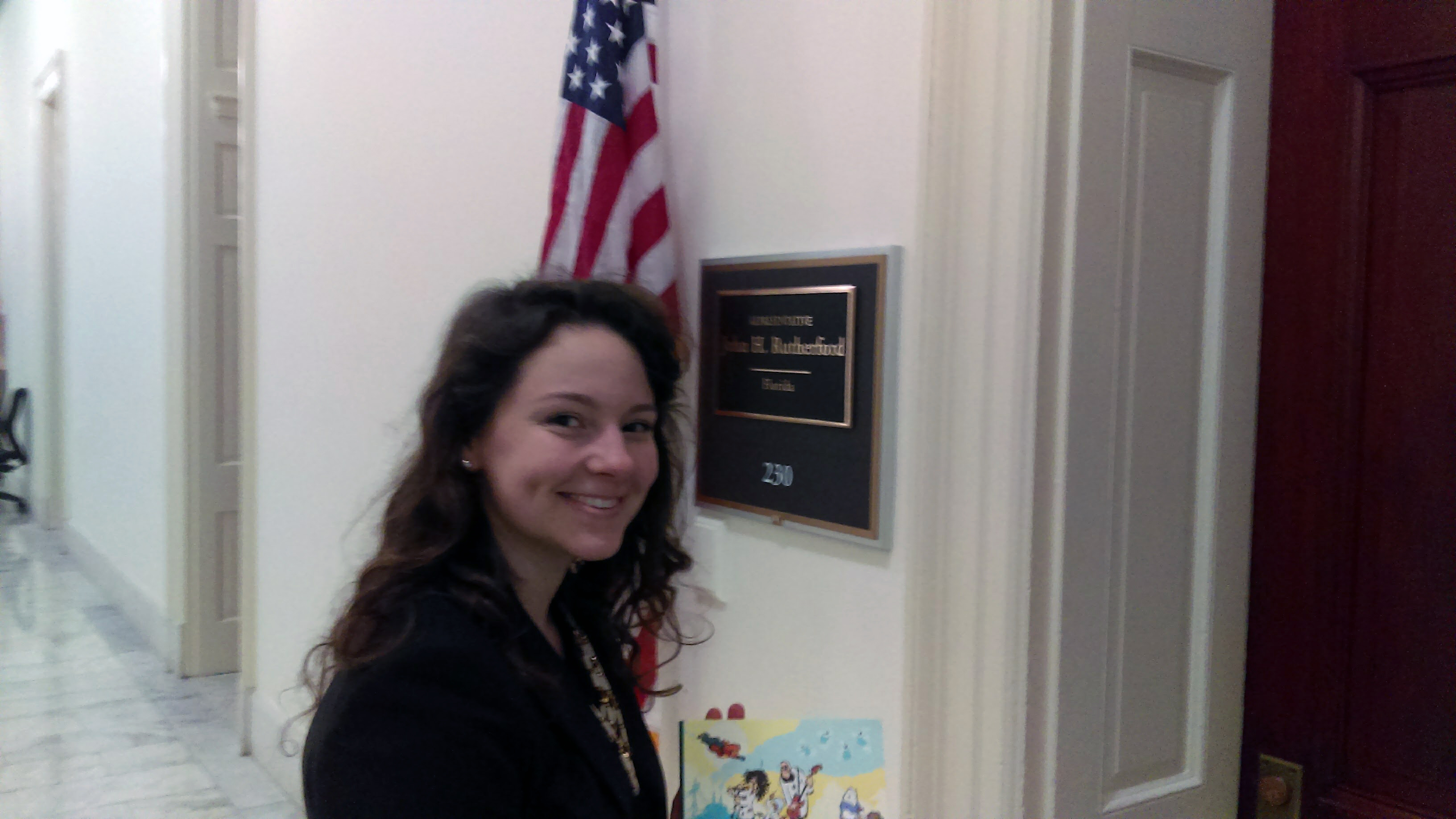 Katharine Sucher at Rep. Rutherford's office | Island Press
