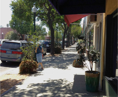 South Pasadena sidewalk and parking