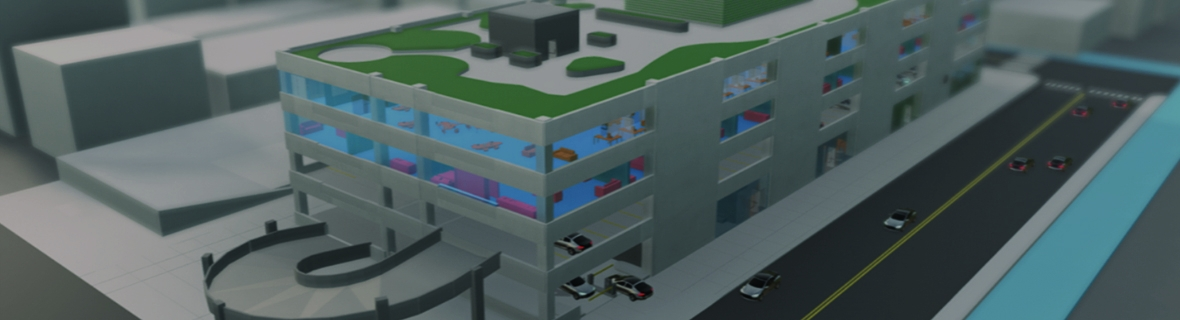 Model of a multi-level parking
