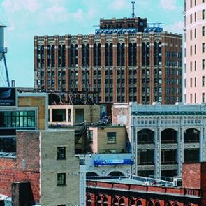 Buildings in Detroit