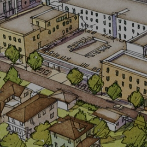 Drawing from Missing Middle Housing shows a variety of housing types