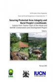 Securing protected area integrity and rural people's livelihoods